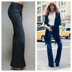7 For All Mankind 30 Flare Jeans Ginger High Waist